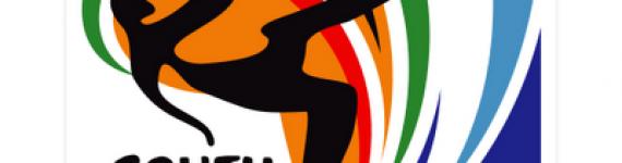 Logo mondiali di calcio 2010 in vettoriale