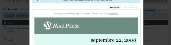 WORDPRESS: Soluzione al problema di registrazione utenti con Mailpress su Aruba