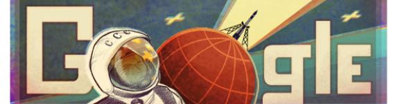 INTERNET: Doodle di Google per i 50 anni dal primo viaggio nello spazio